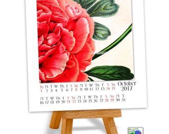 Printable Calendar 2017 - ON SALE - Vintage Botanical Watercolours - Botanical Art - Gifts for Gardeners - Art Calendar - Flower Art