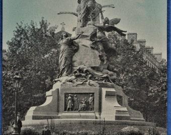 Postcard Paris France Monument to Victor Hugo Antique Divided Back