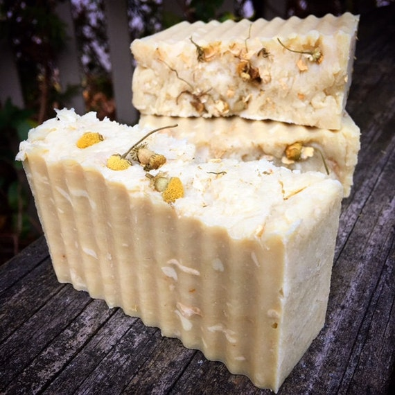 Chamomile Buttermilk Hand-milled Botanical Soap, Chamomile-infused Olive Oil, Chamomile Flowers, Mild & Gentle, Baby Soap, Sensitive Skin