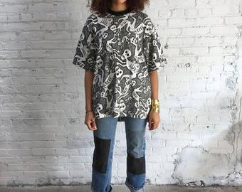 vintage Vision Street Wear skull tee / skater tshirt / skateboard company sk8 sk8r