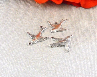 Personalise Add On Charms Bird, Birds, Swallow, Sparrow, Humming Bird