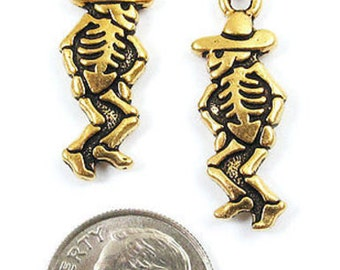 TierraCast Pewter Charms-Antique Gold DANCING SEÑOR (2)