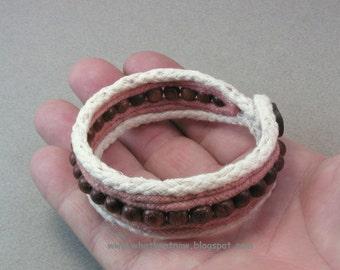 mocha bead bracelet cuff bracelet one button cuff bead bracelet 3801