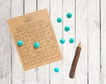 Garden Bridal Shower Bingo - Bingo Game Cards - Bridal Shower Bingo Cards - Rustic Bridal Shower - Personalized Bingo Cards - Wedding Shower
