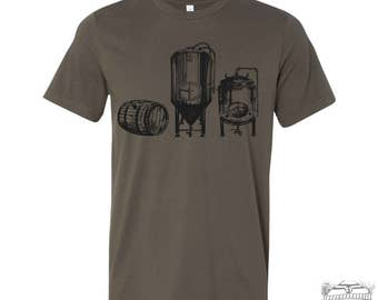 Men's BEER Making Craft Fermenters t shirt s m l xl xxl (+ Color Options) hand screen printed