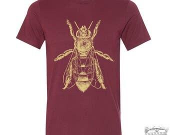 Mens HONEY Bee T Shirt  s m l xl xxl (+ Color Options) hand printed