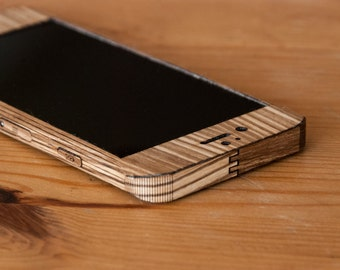 Zebrawood iPhone Case / Wrap - Smooth Style - Lumber Armor - For iPhone 7, iPhone 6S, iPhone 6
