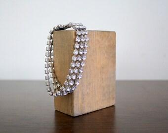 Vintage Triple Strand Rhinestone Bracelet