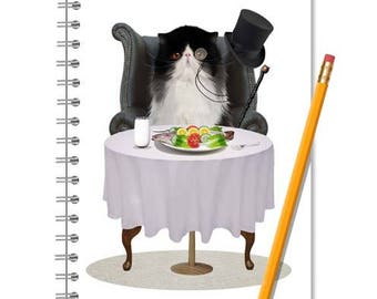 Ragdoll Cat Notebook - Cat Handmade Journal - LINED OR BLANK pages, You Choose