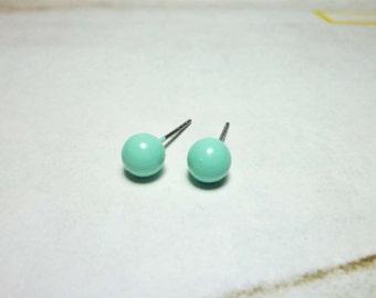 Pastel Ball Stud Earrings - 6mm