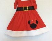Minnie Mouse Christmas Dress Minnie Mouse Dress Minnie Christmas Dress Christmas Minnie Mouse Dress