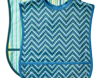2 Adult Bib Set - Choose any 2 Fabrics