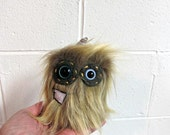 Mini Monster Plush - Handmade Minor Monster Plushie - Tan Brown Faux Fur - OOAK Monster - Small Monster Plushie - Small Monster Soft Toy