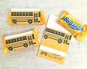 School bus valentine candy bar wrapper for fun size butterfingers