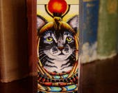 Cleopatra Cat Egyptian Cat Pharaoh Goddess Tabby Cat Bookmark