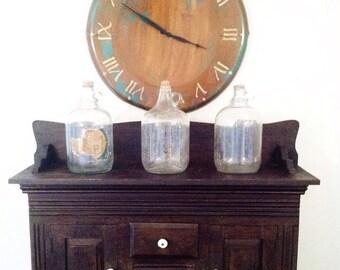 Tobacco Stove Clock - handmade salvaged metal wall clock