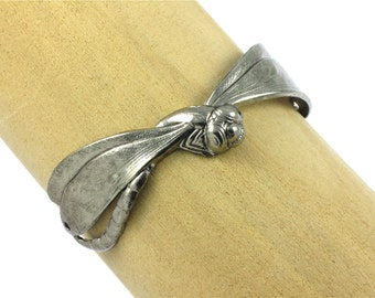 Large DRAGONFLY Bracelet piece in Antique Silver 93mm x 20mm (FF22a)