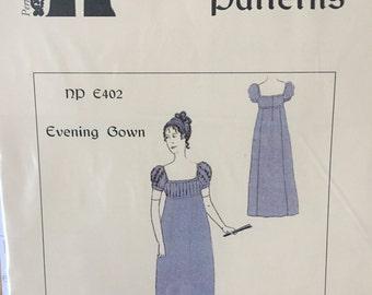 1805-1815 Regency Evening Gown Pattern