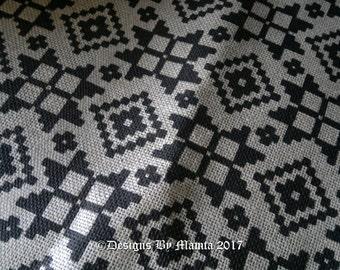Cotton Jute Printed Fabric, Natural Jute Fabric, Geometric Print Fabric, Jute Burlap Fabric, Burlap Printed Fabric, Natural Burlap Fabric