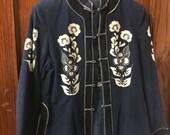 1970s cotton batik tunic jacket
