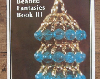 vintage 1980 pattern book Beaded Fantasies lll  tree ornaments decor holiday Christmas