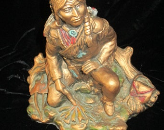 Universal Statuary Corp.Native American Indian Statue 1979  Chicago 666