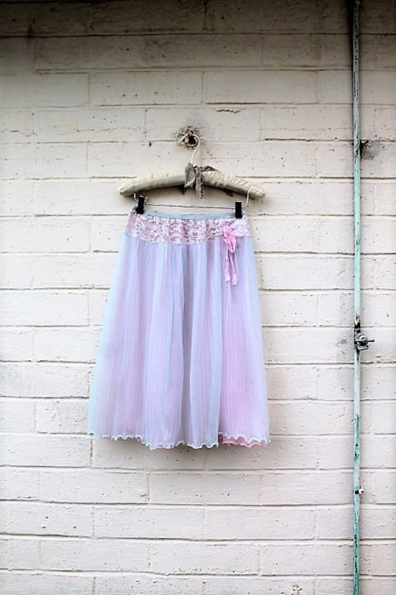 Medium Baby Blue Chiffon upcycled Skirt/Fairy Skirt/upcycled Clothing/Hippie skirt/Repurposed Goddess Skirt/Lucysroom/Music Festival/eco