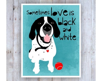 Hound Dog, Black and White Art, Dog Art, Dog Rescue, Dog Poster, Dog Print, Dog Picture, Dog Wall Decor, Pet Art, Home Decor
