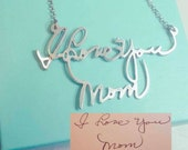 Signature Necklace - Memorial Handwriting necklace - Keepsake Jewelry - Personalized Sterling Silver Dainty Custom Made