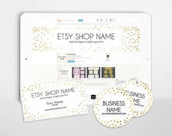 Branding Package - Etsy Shop Covers - Etsy Covers Branding Package - Advance Startup -  Gold Etsy Cover Bundle - Audrey