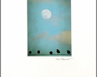 Full Moon - mounted print