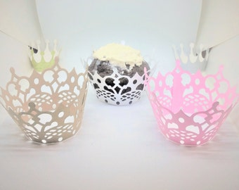 Elegant cupcake liners - set of 10