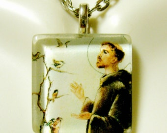 Saint Francis pendant with chain - GP02-021