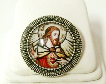 Sacred heart of Christ pin/brooch - BR09-010