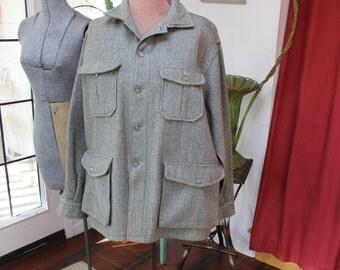 Woolrich Jacket Gray Tweed  Mens 44 unisex VINTAGE by Plantdreaming