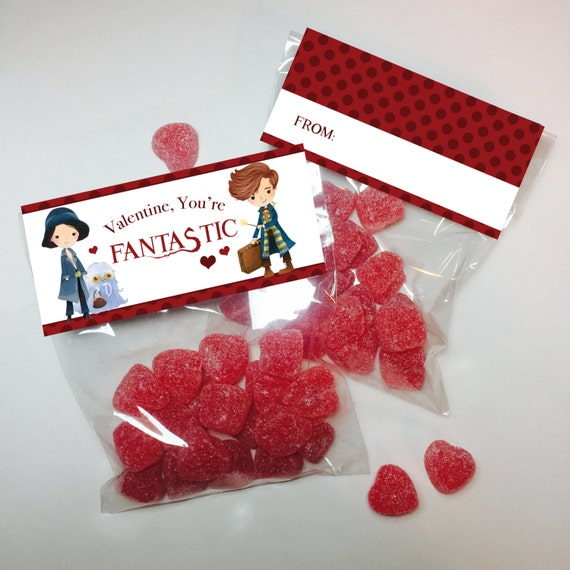 fantastic beasts valentine treat bag toppers