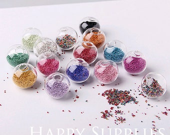1 Package (20G) Romantic Colorful Mini Bead for Glass Bottle Decoration (DT010)
