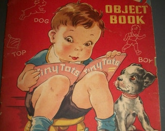 Tiny Tots Object Book 1944 Whitman Publishing Company Vintage Picture Book