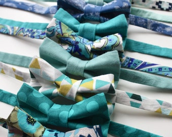 Little and Big Guy BOW TIE - Spring Easter - Blue Teal Turquoise Collection (Newborn-Adult) - Baby Boy Toddler Teen Man