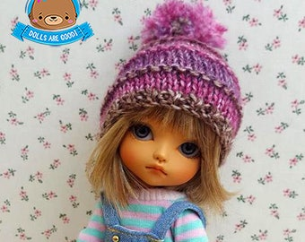 Mauve, pink, purple, hat with pompom, Pukifee, Lati Yellow, Mui Chan, Irrealdoll