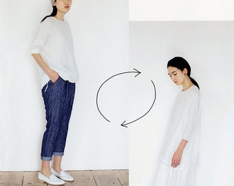 Simple & Casual Garments, Japanese Sewing Pattern Book for Women Clothing, Easy Sewing Tutorial, One Piece Dress, Skirt, Blouse, Pants,B1813