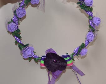 Flower crown, purple flower crown, lilac Flower Crown, flower headband, wedding crown, head wreath, Lilac wreath, Purple head wreath