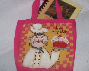 "Canvas Bag, 9""x9"" with Original Cookbook"