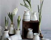 SALE - Porcelain Bulb Vases