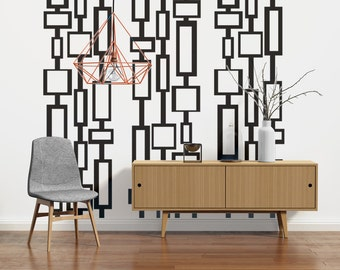 Mid Century Modern Decor, Modern Wall Decals, Mid Century Modern Wall Art,  Retro