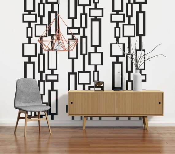 mid century modern decor modern wall decals mid century. Black Bedroom Furniture Sets. Home Design Ideas