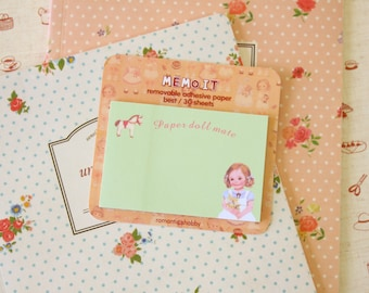 Alice Green Paperdoll Mate Sticky Notes