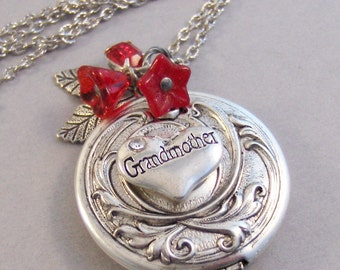 Grandmother's Locket,Grandma,Grandmad Necklace,Grandma,Grandmother Necklace,GrandmaMother,Necklace,Antique Locket,Necklace.valleygirldesigns