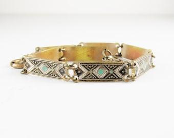 Vintage Damascene-Style Bracelet, Made in Spain