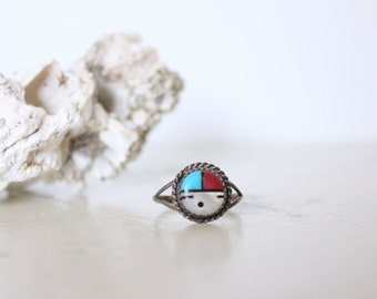 sterling silver zuni style ring / 8